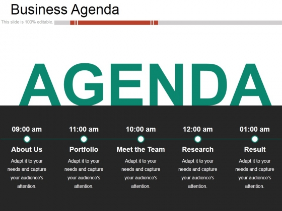 Business Agenda Ppt PowerPoint Presentation Model Show
