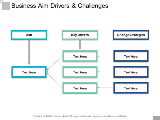 Business Aim Drivers And Challenges Ppt PowerPoint Presentation Styles Example Topics