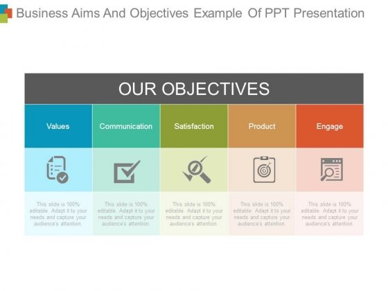 Business Aims And Objectives Example Of Ppt Presentation