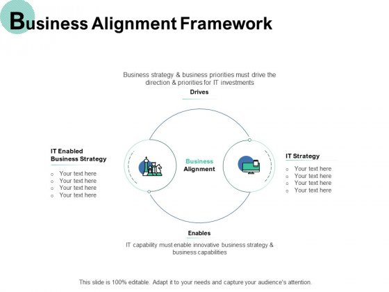 Business Alignment Framework IT Strategy Ppt PowerPoint Presentation Infographics Display
