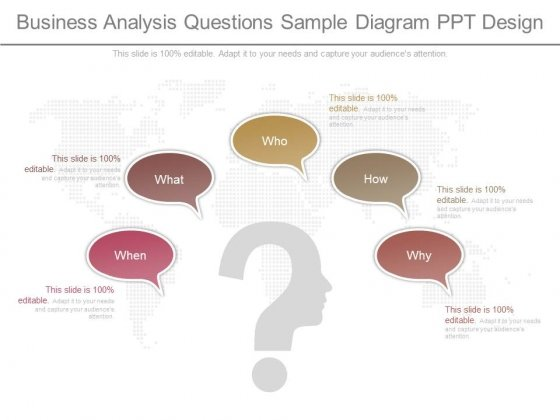 Business Analysis Questions Sample Diagram Ppt Design