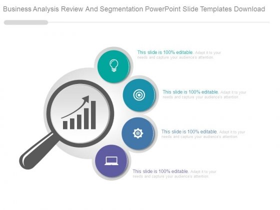 Business Analysis Review And Segmentation Powerpoint Slide Templates Download