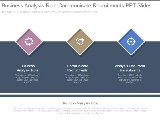 Business Analysis Role Communicate Recruitments Ppt Slides