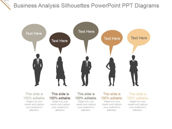 Business Analysis Silhouettes Ppt PowerPoint Presentation Deck