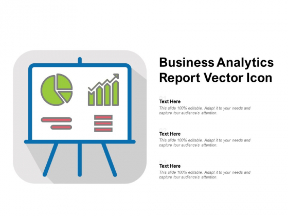 Business Analytics Report Vector Icon Ppt PowerPoint Presentation File Master Slide