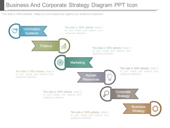 Business And Corporate Strategy Diagram Ppt Icon