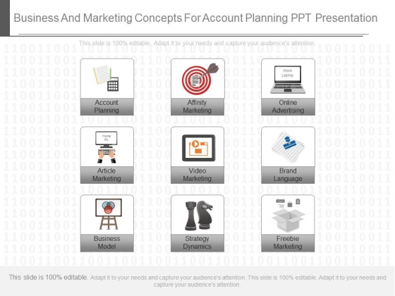Business And Marketing Concepts For Account Planning Ppt Presentation