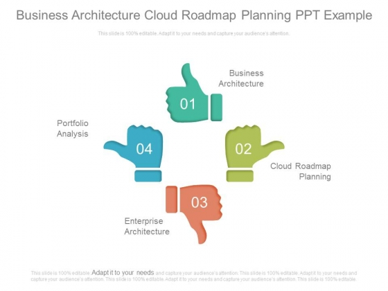 Business Architecture Cloud Roadmap Planning Ppt Example