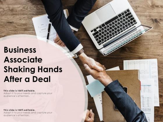 Business Associate Shaking Hands After A Deal Ppt PowerPoint Presentation Diagram Graph Charts