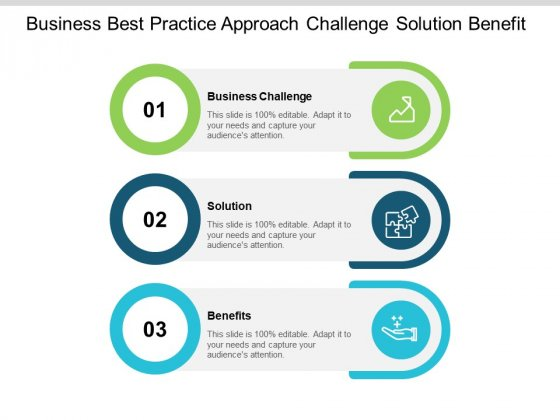 Business Best Practice Approach Challenge Solution Benefit Ppt PowerPoint Presentation Infographic Template Background