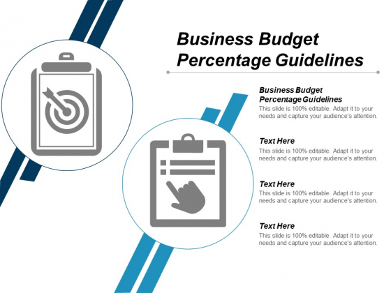 Business Budget Percentage Guidelines Ppt PowerPoint Presentation Show Files