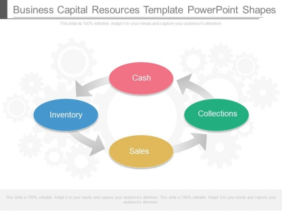 Business Capital Resources Template Powerpoint Shapes
