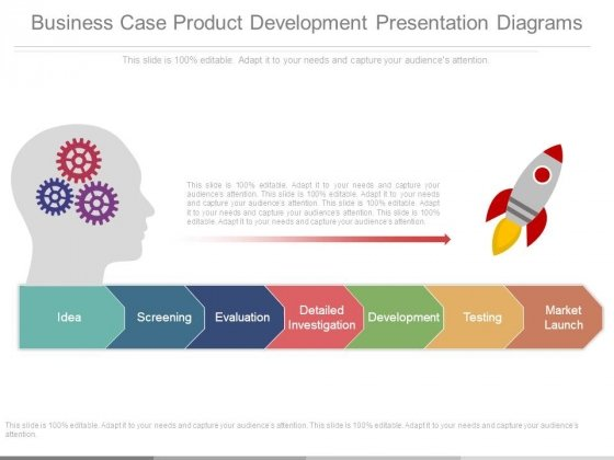 Business Case Product Development Presentation Diagrams