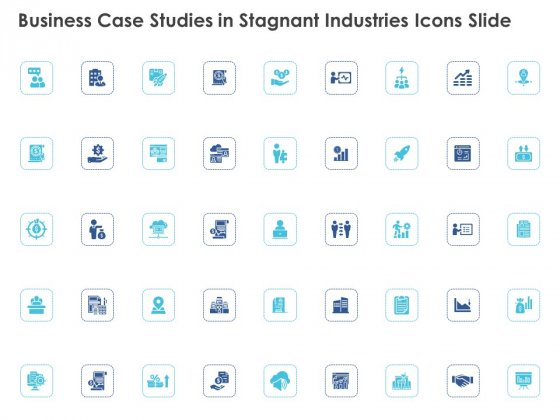 Business Case Studies In Stagnant Industries Icons Slide Ppt Outline Outfit PDF