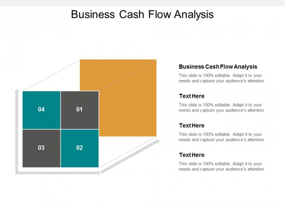 Business Cash Flow Analysis Ppt PowerPoint Presentation Infographics Visual Aids Cpb