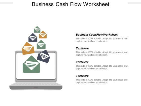 Business Cash Flow Worksheet Ppt PowerPoint Presentation Pictures Example Introduction Cpb