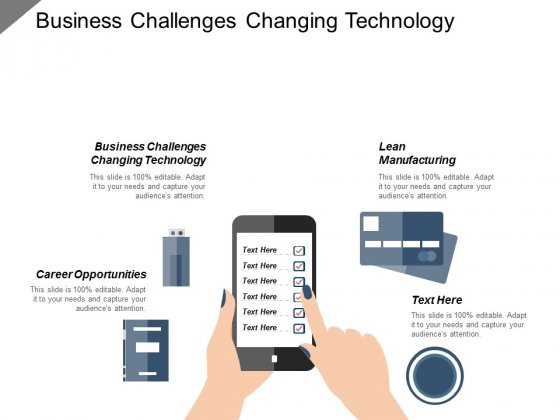 Business Challenges Changing Technology Lean Manufacturing Career Opportunities Ppt PowerPoint Presentation Model Guide