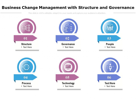 Business Change Management With Structure And Governance Ppt PowerPoint Presentation Infographics Display PDF
