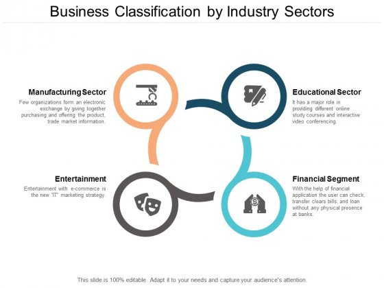 Business Classification By Industry Sectors Ppt PowerPoint Presentation Inspiration Infographics