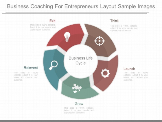 Business Coaching For Entrepreneurs Layout Sample Images
