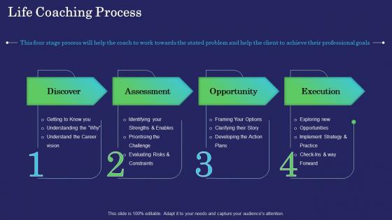 Business Coaching Life Coaching Process Ppt PowerPoint Presentation Layouts Objects PDF