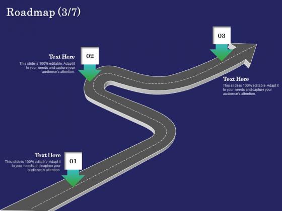 Business Coaching Roadmap Three Process Flow Ppt PowerPoint Presentation Show Slides PDF