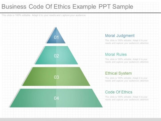 Business Code Of Ethics Example Ppt Sample