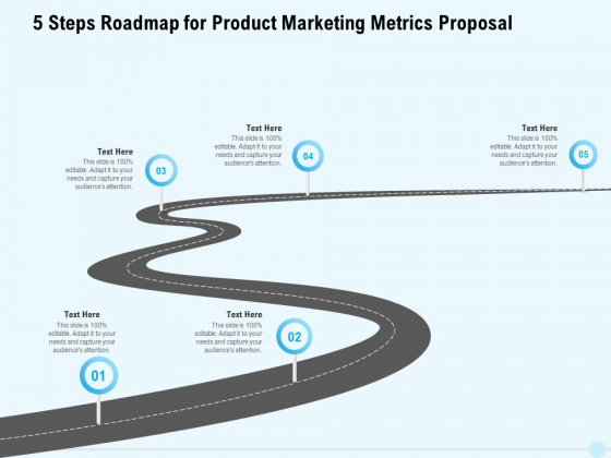 Business Commodity Market KPIS 5 Steps Roadmap For Product Marketing Metrics Proposal Elements PDF