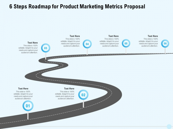 Business_Commodity_Market_KPIS_6_Steps_Roadmap_For_Product_Marketing_Metrics_Proposal_Designs_PDF_Slide_1