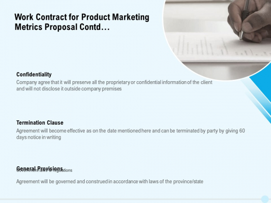 Business Commodity Market KPIS Work Contract For Product Marketing Metrics Proposal Contd Graphics PDF