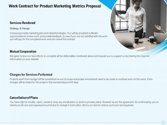Business Commodity Market KPIS Work Contract For Product Marketing Metrics Proposal Topics PDF