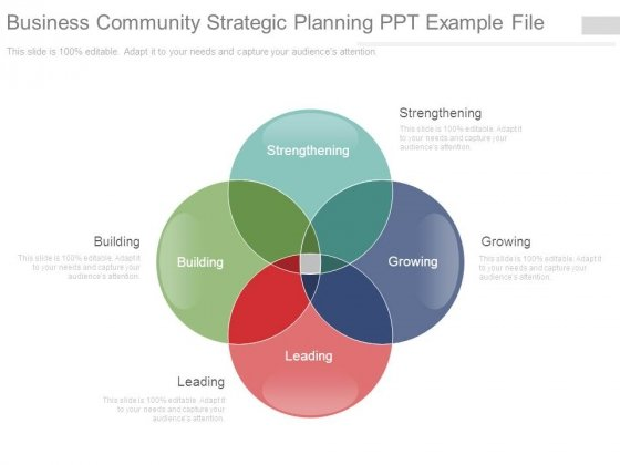 Business Community Strategic Planning Ppt Example File
