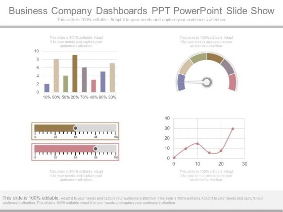 Business Company Dashboards Ppt Powerpoint Slide Show