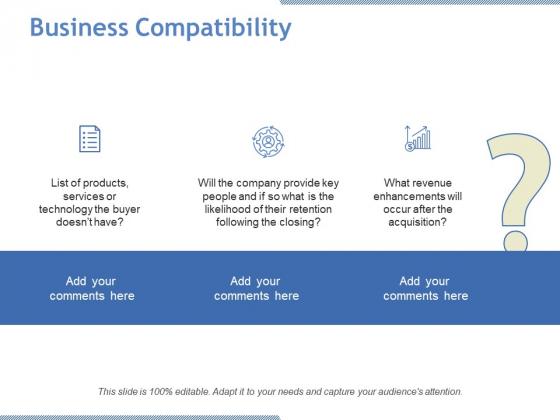 Business Compatibility Ppt PowerPoint Presentation Ideas Slideshow