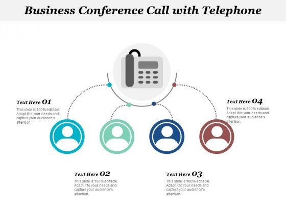 Business Conference Call With Telephone Ppt Powerpoint Presentation Icon Files