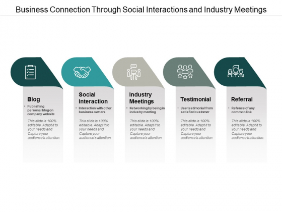 Business Connection Through Social Interactions And Industry Meetings Ppt Powerpoint Presentation File Rules
