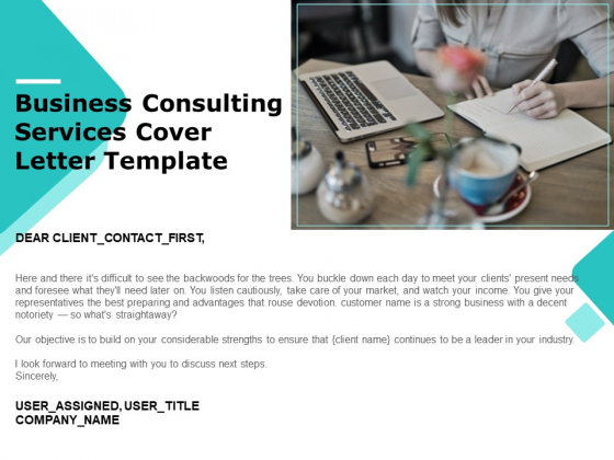 Business Consulting Services Cover Letter Template Ppt PowerPoint Presentation Portfolio Guide PDF