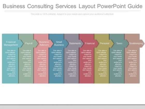Business Consulting Services Layout Powerpoint Guide
