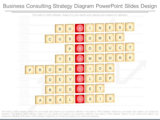 Business Consulting Strategy Diagram Powerpoint Slides Design
