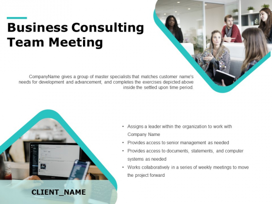 Business Consulting Team Meeting Ppt PowerPoint Presentation Outline Sample PDF