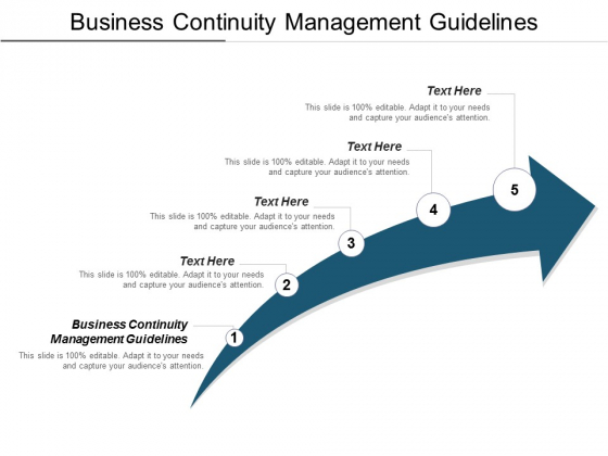 Business Continuity Management Guidelines Ppt PowerPoint Presentation File Slideshow