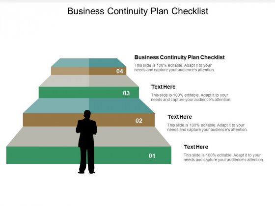Business Continuity Plan Checklist Ppt PowerPoint Presentation Slide Download Cpb