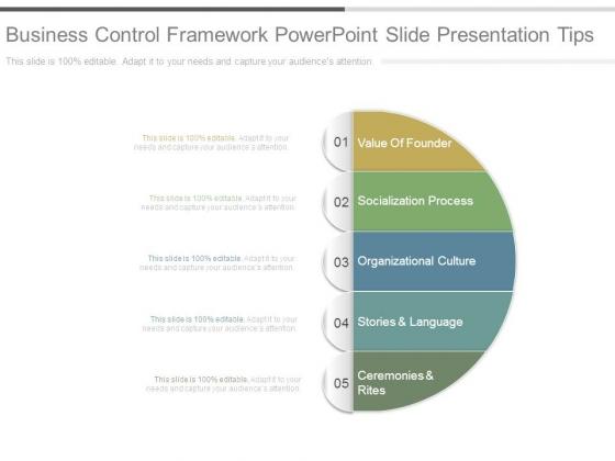 Business Control Framework Powerpoint Slide Presentation Tips