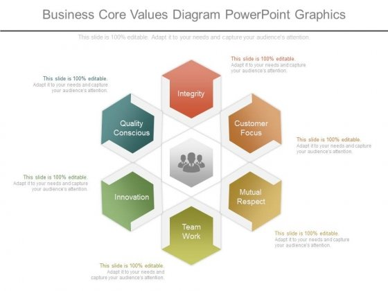 Business Core Values Diagram Powerpoint Graphics