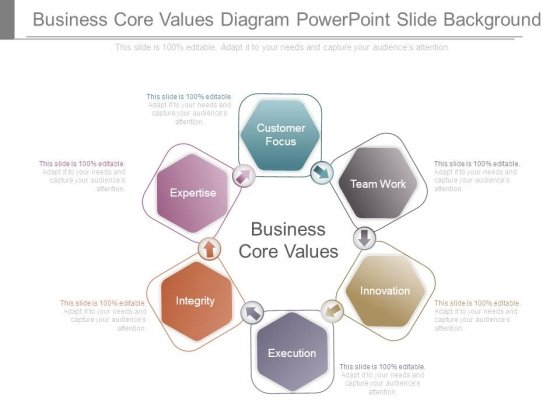 Business Core Values Diagram Powerpoint Slide Background