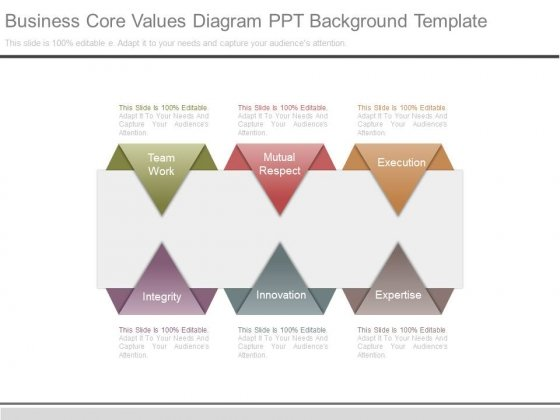 Business Core Values Diagram Ppt Background Template