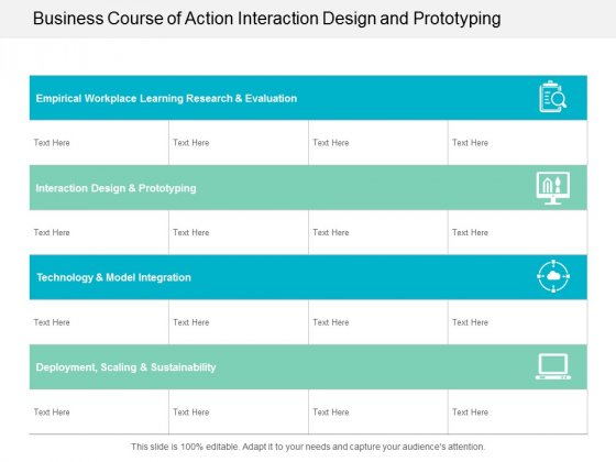 Business Course Of Action Interaction Design And Prototyping Ppt Powerpoint Presentation Pictures Background Image