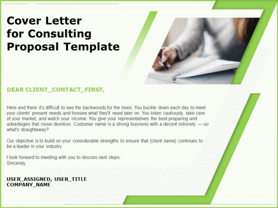Business Cover Letter For Consulting Proposal Template Ppt Slides Files PDF