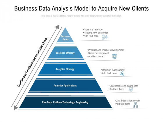 Business Data Analysis Model To Acquire New Clients Ppt PowerPoint Presentation Visual Aids Infographics PDF