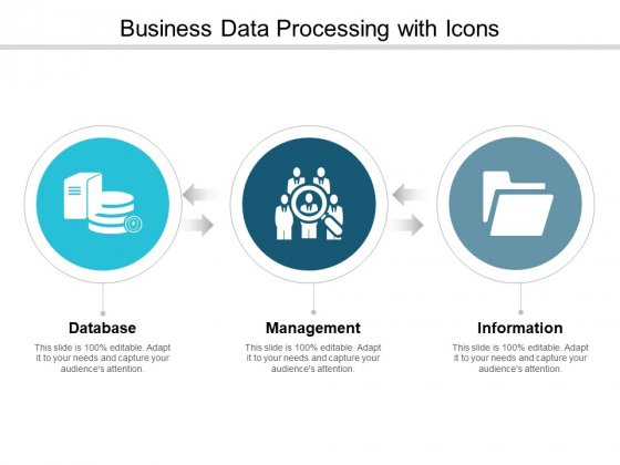 Business Data Processing With Icons Ppt PowerPoint Presentation Professional Design Inspiration